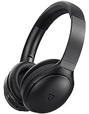 Bluetooth Headphones, SoundPEATS A6 Hybrid Active Noise Cancelling Headphones Bluetooth Earphones Over Ear Headphones, 40 Hours Playtime, Foldable Design with Ergonomic Headband