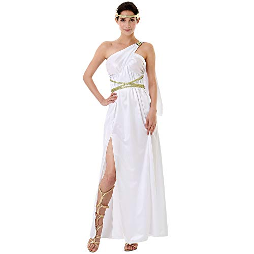 Grecian Goddess Halloween Costume for Women | Athena, Aphrodite Dress, L -