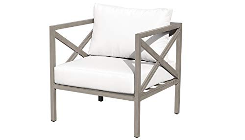 TK Classics TKC065b-CC-WHITE Carlisle Club Chair, Sail White