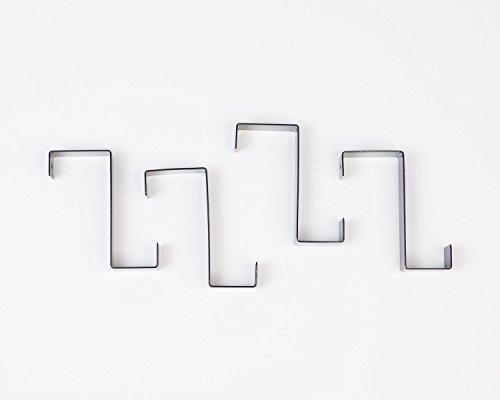 Design Ideas Black Hook Over Reversible Over the Door Hooks (Set of 4)