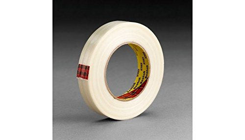 3M Scotch 8896 Synthetic Rubber Resin Film Strapping Adhesive Tape, 4.6 mil Thick, 110m Length x 48mm Width, Ivory ()