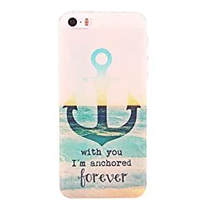 HP DFGreen Anchor Pattern PC Hard Case for iPhone 5/5S