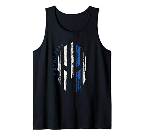 Thin Blue Line Police Law Enforcement Support Spartan Helmet Tank Top (Sparta Tank)
