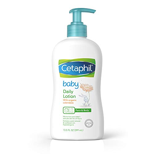 Cetaphil Baby Daily Lotion with Organic Calendula, Sweet Almond Oil and Sunflower Oil, Pump Bottle