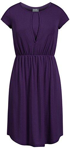 al Nursing Dress with Shirttail Hem, Purple, M (Shirttail Hem)
