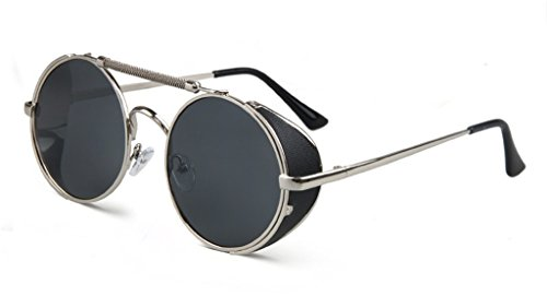 Steam Punk Polarized Sunglasses Personality Wind Screen Round - Chinese Online Eyeglasses