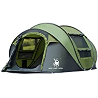 HuiLingYang Outdoor Instant 4-Person Pop Up Dome Tent -...