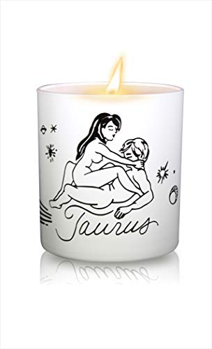 Black Cake Zodiac Kama Sutra Soy Massage Candles, Sex Positions Candles with Romantic Vanilla Fragrance 8 Oz Hand Poured (USA Made) Aromatherapy Candles (Taurus)