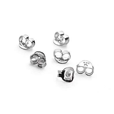6abeed303 Pack of 10 (5 pairs) Silver Butterfly Ear Earring Stud Backs Clasps ...