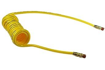 "Coilhose Pneumatics PU14-256-Y Flexcoil 3//8/"" MPT Rigid Yellow 1//4/"" ID x 25/'"
