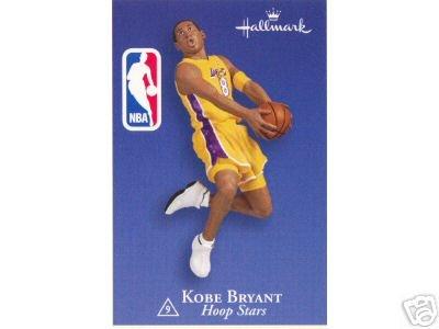 Kobe Bryant with card hoop stars #9 in series 2003 hallmark ornament (Kobe Christmas 9)