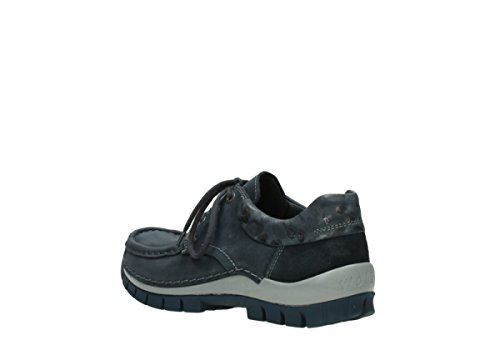 à lacets 59800 Fly Wolky Chaussures Bleu winter Comfort Cuir q6vOEt