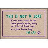 "This is Not a Joke (Natural/Purple/Green) (27""w x 18""d)"