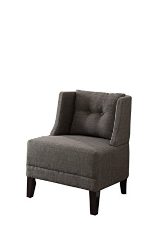 Ash Chair Accent - Poundex Bobkona Prissy Accent Chair in Ash Black, 0