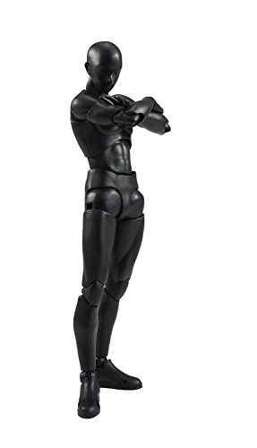 Bandai Tamashii Nations S.H. Figuarts Man (Solid Black Color Ver.) Action Figure from TAMASHII NATIONS