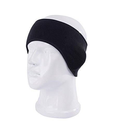 Ear Warmer - Winter Fleece Ear Warmer Headband Unisex Stretch Sports Outdoor Running Ski Headwear Ear Muffs Hair Band Headwrap (black)