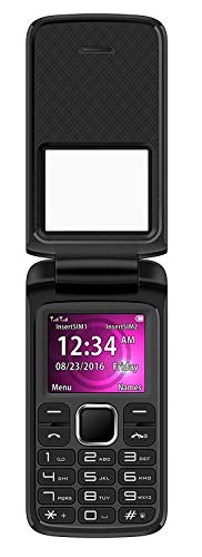 BLU Zoey Flex Unlocked GSM (AT&T + T-Mobile) Dual-SIM Flip Cell Phone w/Quick-Glance Window, (Best Blu Windows)