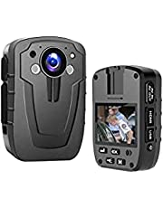 CAMMHD 1296p HD Body Camera,32GB Memory,3000mAH Battery Body Cam for Civilians and Police ,Portable Body Camera with Audio and Night Vision,Segment Recording, IP67
