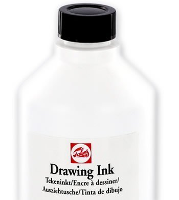 Talens Black Drawing Ink Tattoo 16.6oz 490ml Bottle Outline Outlining Tribal