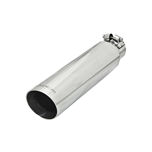 Flowmaster 15372 3.00' Polished Stainless Steel Angle Cut Clamp-On Exhaust Tip for 2.25' Tubing