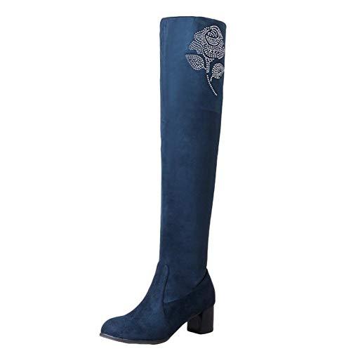 Stivali Stivali Stivali Blu Elegante MissSaSa Donna Boots Long Long Long RIx1qw