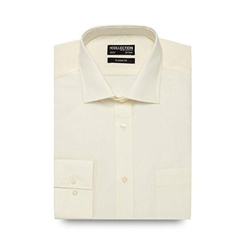 The Collection Herren Business-Hemd weiß cremefarben Einheitsgröße
