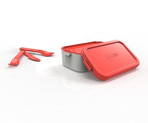 Bento Box Individual Tampa Primacor Anodilar Vermelho Polipropileno