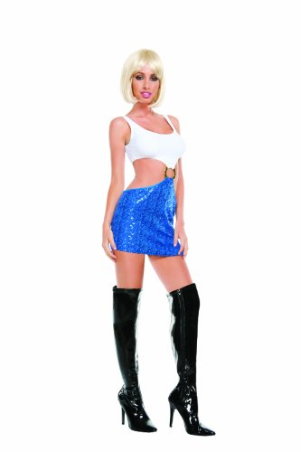 Starline Women's Hollywood Honey Sexy Costume Dress, Blue/White, Medium