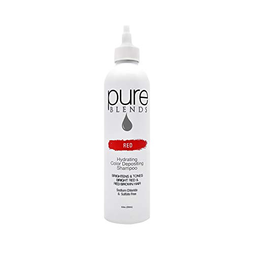 Pure Blends Hydrating Color Depositing Shampoo, Red, Bright Red and Red Brown Tones, 8.5 oz.