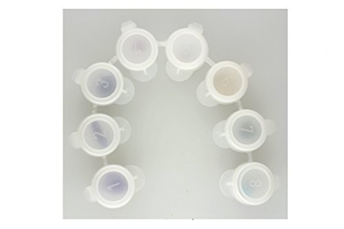 8 Count Paint Pot Strips 8 connected 1/6 Ounce containers with SOLID SEAL Lids
