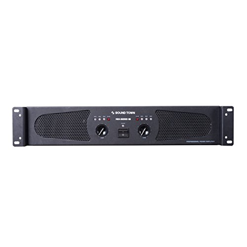 Sound Town Professional Dual-Channel, 2 x 1200W at 4-ohm, 5000W Peak Output Power Amplifier (NIX-5000IB)