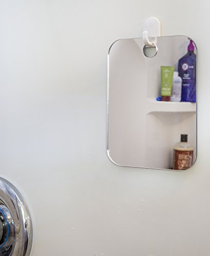 Deluxe Shave Well Fog-free Shower Mirror - Made in the USA - 33% larger than the Original Shave Well Anti-Fog Shower Mirror