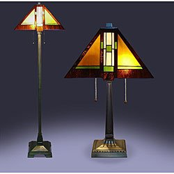 Tiffany Style Aztec Mission Lamps (Set of 2) by Serena D'italia