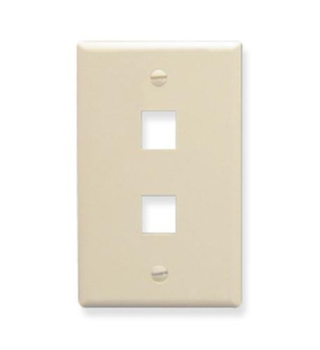 ICC FACE-2-AL IC107F02AL - 2Port Face Almond by ICC