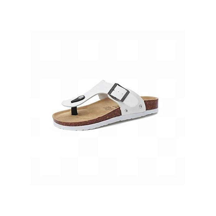 Oudan Pantofole Da Donna Flip Flop Belle Fresche Scarpe Casual Di Sandali Non Occupati colore Bianca Dimensione 35