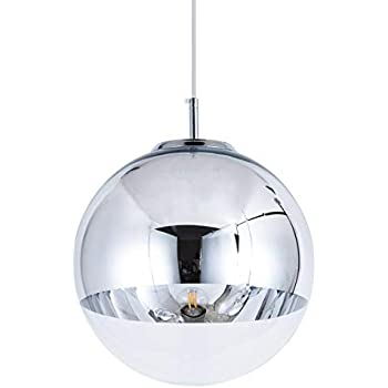 Mzithern Modern Mini Globe Pendant Lighting With Handblown Clear