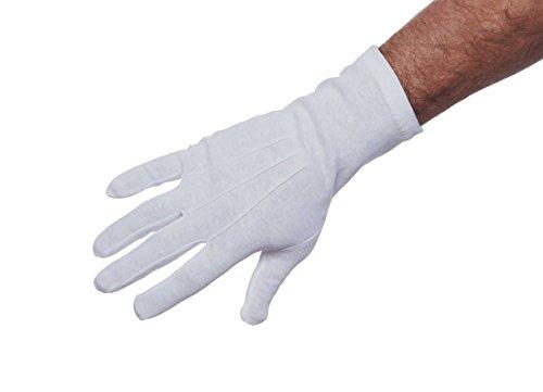 Current Color Guard Long Wrist Unisex Cotton Gloves (White, (Dance Costumes Companies Usa)