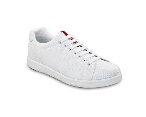 (Prada Men's Nylon Mesh Sneaker, White 4E2988 (US 10.5 UK 9.5))