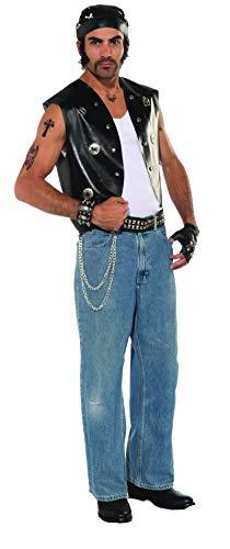 Forum Novelties Men's Goth Punk Rocker Costume Vest, Black, One Size
