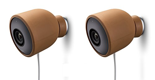 Colorful Silicone Skins for Nest Cam Outdoor Security Camera  Protect and Camouflage your Nest Cam Outdoor with these UV light- and weather resistant silicone skins (2 Pack, Brown)