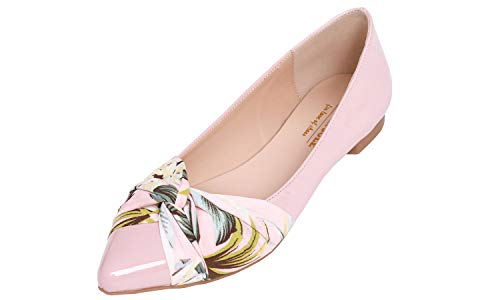 - Feversole Women's Pointed Toe Bow Tie Trim Fashion Ballet Flat