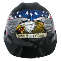MSA V-Gard Cap Style Patriotic Hard Hat American Pride Eagle cap style hard hats - One Touch Suspension