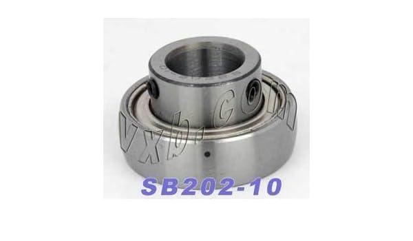 "SB202-10G 5//8/"" Insert Ball Bearing With Set Screws"