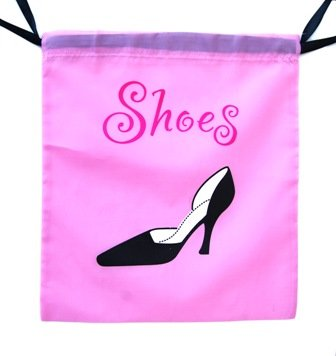 """Jetset Travel Polyester Shoe Bag - 16""""x 14"""" Inches - Lightweight Bag Helps to Keep Shoes From Getting Scuffed Up."""