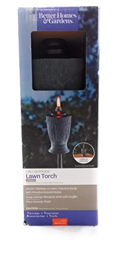 Better Homes and Garden Table Top or Lawn Torch Locksley 3 in 1 Adjustable Height