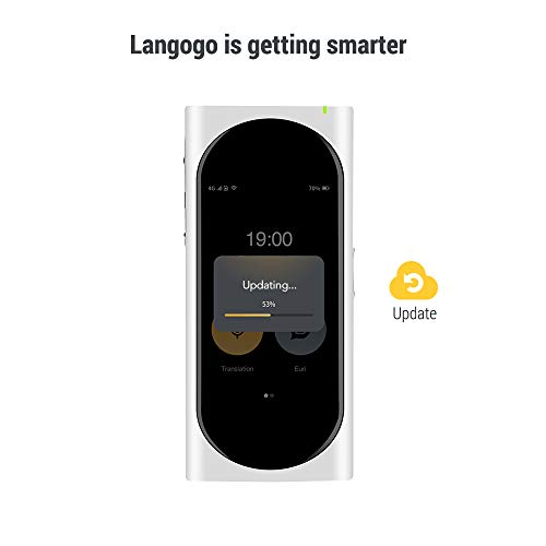 Langogo AI Language Translator Device with Wi-Fi Hotspot, 92 Languages Instant Two-way Voice Translator with eSIM inside, 3.1inch Retina Display, Noise-cancelling, Pocket Translator for Travel, White by Surfit (Image #6)