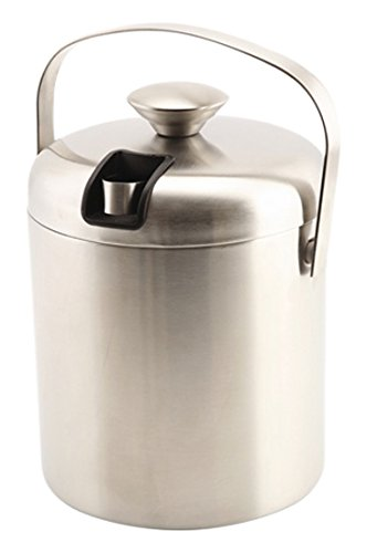 1.2 L Genware NEV-ICBKT Stainless Steel Ice Bucket and Tong Insulated