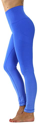Prolific Health High Compression Women Gym Pants Yoga Fitness Leggings Capri (Large, Ombre Royal Blue)