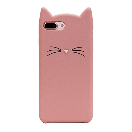 DiDicose Samsung Galaxy S7 Case,3D Cartoon Animal Pink Whiskers Cat Kitty Silicone Rubber Phone Case Cover for Samsung Galaxy S7