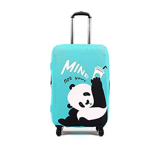 Rainproof Elastic Luggage Protective Cover Suitcase Protector Carry-on and Checked-in Size (Large, Panda)